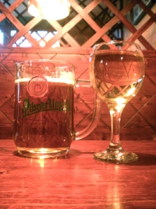 Czech beer and Hungarian wine