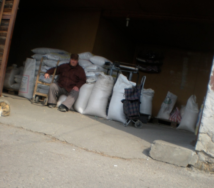 guarding the grains