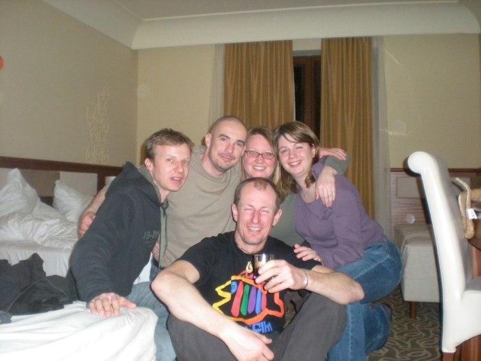 Hovi, Zsolt, me, Györgyi and Andrew